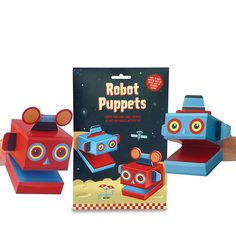 Create Your Own Robot Puppets from TUSK homewares