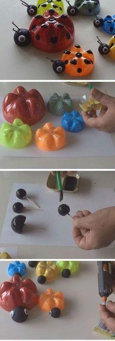 Ladybug's Family from Plastic Bottles 18 DIY Summer Art Projects for Kids to Make Easy Art Projects for Toddlers Kids Crafts, Summer Crafts For Kids, Crafts For Kids To Make, Summer Diy, Kids Diy, Spring Crafts, Decor Crafts, Holiday Crafts, Easy Crafts