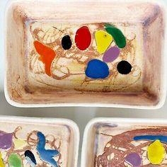 3 Vintage Vallauris France Modernist Ceramic Trays Mid Century Catch All Signed | eBay