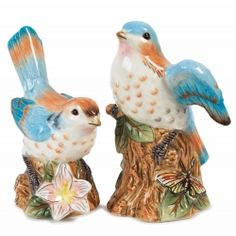 Fitz and Floyd Toulouse Bird Salt and Pepper Set
