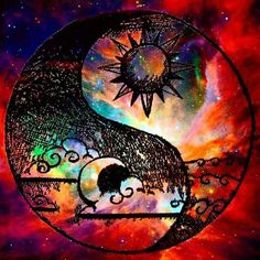 ☮ American Hippie Art ☮ Trippy Yin Yang