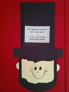 Abraham Lincoln craft for President's Day! by susanne