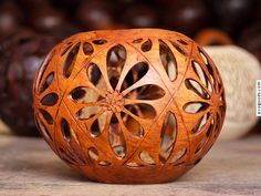 Like design and how gourd secioned off with straight lines