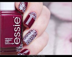 Stamping Manicure with essie bahama mama & Born Prety Plate BPL-028