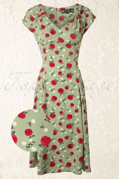 Bunny - 50s Sheila Dress Light Green
