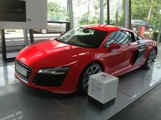 Audi R8 in Red ( Side )