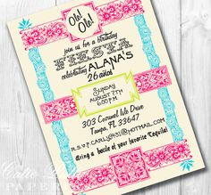 Vintage Fiesta Party Mexican Party  PRINTABLE by CutiePuttiPaperie, $15.50