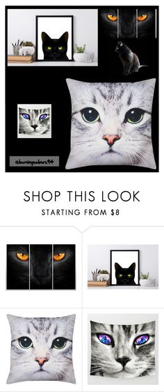 """""""For cat lovers"""" by oldcastlechrista ❤ liked on Polyvore featuring interior, interiors, interior design, home, home decor, interior decorating and M&Co"""