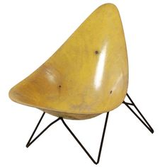 1stdibs | Yellow Lounge Chair by Mérat