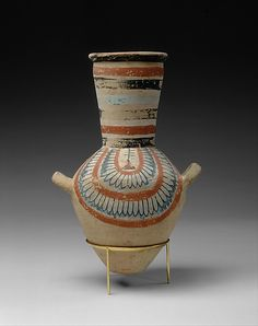 Jar from the tomb of Sennedjem Period: New Kingdom, Ramesside Dynasty: Dynasty 19 Reign: reign of Ramesses II