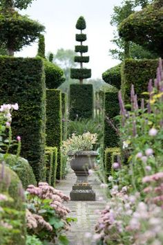 I love the use of the topiary as a focal point in this beautiful garden. Source: by Deby Goldsmith