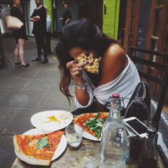 pizza in an alley