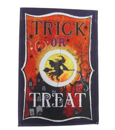 "Maker's Halloween Flag 12""x18"" - Trick or Treat"