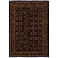 """The Conestoga Trading Co. Westminster Black/Red Area Rug Rug Size: Runner 1'10"""" x 7'6"""""""