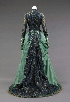 Silk Afternoon Dress, 1875, House of Worth