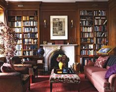 My home will have a room where the walls are all bookshelves, right to the top and a big beautiful fireplace and a big comfy dark green leather chair.