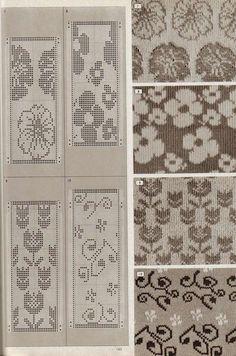 Photo from album Pattern Library on Фото, автор deguciai на Яндекс. Fair Isle Knitting Patterns, Knitting Charts, Knitting Stitches, Knitting Designs, Knitting Machine, Motif Fair Isle, Fair Isle Pattern, Crochet Chart, Filet Crochet