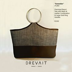 Drevait Designer Handbag - Sunseeker Resort Tote - Truffle  Join the Journey on Instagram: @drevaitofficial, and Facebook: www.facebook.com/drevaitofficial