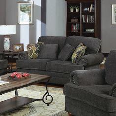 Coaster Company Grey Chenille Loveseat or Sofa