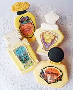 French Perfume Bottle Cookies