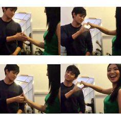 'JaDine Handshake'  Lez do dis!  JaDine Forehead Kiss