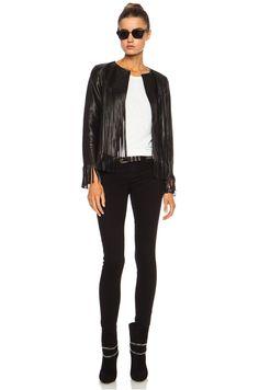 ThePerfext April Fringe Leather Jacket in Black | FWRD [5]