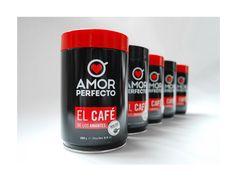 Amor Perfecto / Revitalización de imagen para el mejor café del mundo / Proyecto nominado al XVI Premio Lápiz de Acero 2013, Categoría: Etiquetas / Nuevo concepto de empaque en lata /   www.aluzian.com