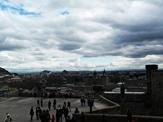 Edinburgh, Scotland : typical cloudy sky