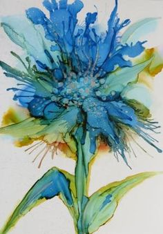 Alcohol Ink on Yupo - Helen Cook by ashleyw