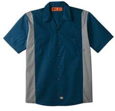 Industrial Color Block Short Sleeve Shirt | Men's Shirts | Dickies.com