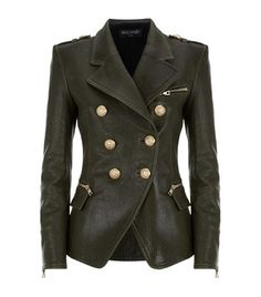 Balmain Double-Breasted Leather Jacket available to buy at Harrods. Shop designer women's jackets online and earn Rewards points.