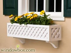 The Lattice Window Box w/ Cleat Mounting System