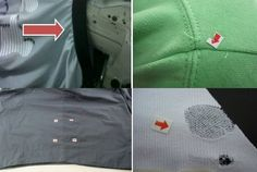 Various garment defects
