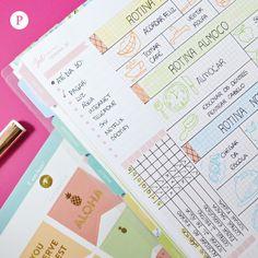 Quer tornar sua rotina ainda mais feliz? Nós te ajudamos! Bullet Journal Planner, Diary Planner, Happy Planner, My Planner Colibri, Planners, Control Journal, E Journals, Journaling, Commonplace Book