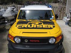 "TOYOTA FJ CRUISER DECAL STICKER   Re: Toyota in the ""Hood"" Decal"