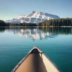 sanborncanoecompany: Two Jack Lake, Banff National Park. #ScoutForth shot by @clo.photo