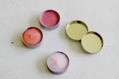 Kool-Aid gives these DIY lip balms their pretty hue.