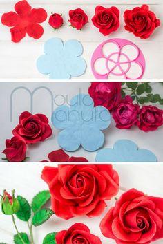 Anleitung Rose aus Blütenpaste / Gum Paste Rose Tutorial  5 Petal Cutter & 5 Petal Veiner Mould Manufaktur #tutorial #video #rose #gumpaste #blütenpaste #motivtorte #fondant