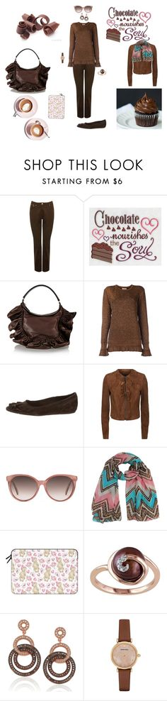 """Chocolate Inspired"" by canoe-communicationsblog ❤ liked on Polyvore featuring M&Co, Martha Stewart, Valentino, Lanvin, Pedro García, Elie Tahari, Gucci, Casetify, Suzy Levian and Emporio Armani"