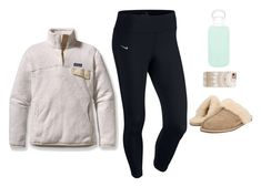 """""""powers been out for 6 hours lol"""" by mads-thompson ❤ liked on Polyvore featuring NIKE, Patagonia, UGG Australia, Casetify, bkr and goals"""