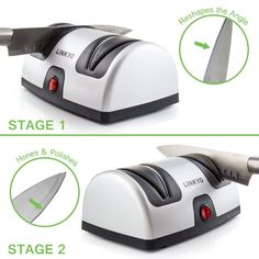 Are you having a headache with blunt knives? Check out our list with the best electric knife sharpener for you. Sharpen your knives easy at any time. Best Electric Knife Sharpener, Best Knife Sharpener, Kitchen Knife Sharpening, Collectible Knives, Tactical Pocket Knife, Knife Stand, Engraved Pocket Knives, Best Pocket Knife, Knives And Swords
