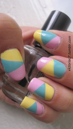 These pastel nails are perfect for #Easter and for the rest of the #spring season!