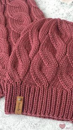 crochet braids We knit a hat with a false braid pattern. Lace Knitting Patterns, Knitting Stitches, Knitting Designs, Baby Knitting, Knitting Wool, Knitting Needles, Knitting Socks, Diy Crafts Knitting, Knit Crochet