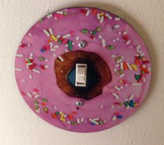Donut light switch cover