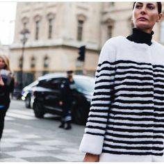 "Lilly e Violetta on Instagram: ""#streetstyle as we like it: super chic! @bat_gio rocking @lillyevioletta nautical stripes coat - GET IT NOW @modaoperandi #fur #luxurylifestyle #mink #lillyevioletta #livingluxuryeveryday  @ahuypham"""