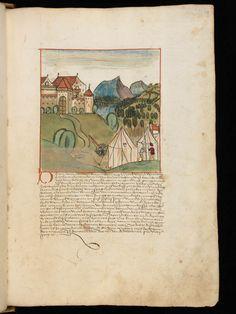 Bremgarten, Stadtarchiv Bremgarten, Bücherarchiv Nr. 2, f. 101r – Werner Schodoler, Eidgenössische Chronik, Vol. 2