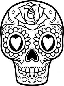 how to draw a sugar skull easy step 10