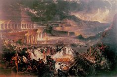 10 August 12 BCE, the Neo-Assyrian Empire ended when the city of Nineveh on the river Tigris fell to a coalition of various Indo-Iranian tribes under the Babylonian King Nabopolassar.   Depicted below is the imagination of the English Romantic painter John Martin of the Fall of Nineveh from 1828, who was quite fascinated with the burning and destruction of ancient sites anyway.