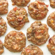 Fruitcake Drops - These moist little nuggets of fruit are bound with spice-scented batter and baked to chewy perfection.