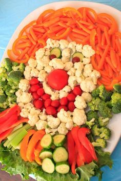 Clown veggie tray
